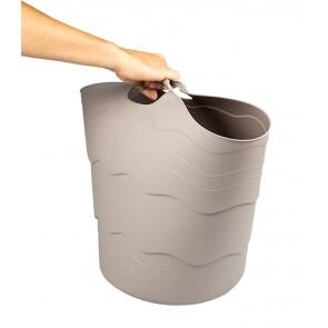 Plastový koš FLEX, 30 l, šedý - POSLEDNÍ 2 KS