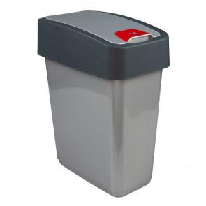 """Odpadkový koš """"Magne"""" 25 l, stříbrný"""