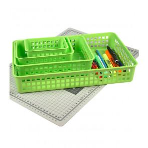 Plastový košík, A6 zelený, 18,5x14x6 cm - POSLEDNÍ 3 KS
