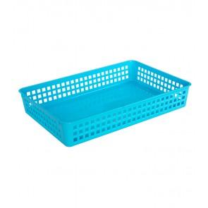 Plastový košík, A4, modrý, 36,5x24,5x6 cm