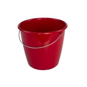 Kbelík s kovovou rukojetí, tmavě červený, 5l - POSLEDNÍCH 6 KS