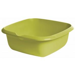 Hranatá miska s výlevkou, zelená, 34 x 34 x 12,8 cm - POSLEDNÍCH 2 KS