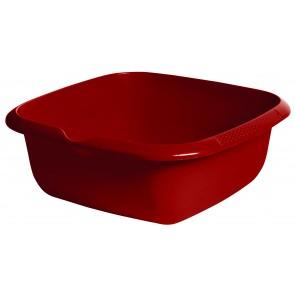 Hranatá miska s výlevkou, tmavě červená, 34 x 34 x 12,8 cm - POSLEDNÍCH 9 KS