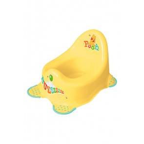 Dětský nočník v žluto medovém provedení s motivem Medvídka Pú - 38x27x24 cm