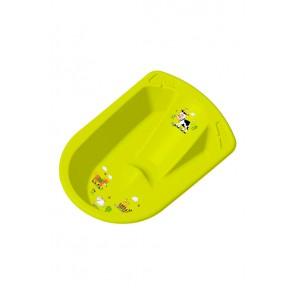 Anatomicky tvarovaná vanička ve světle zelené barvě s motivem Funny Farm - 80x54x24 cm - POSLEDNÍCH 5 KS