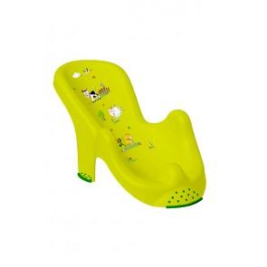 Anatomicky tvarované lehátko ve světle zelené barvě s motivem Funny Farm - 53x25x22 cm