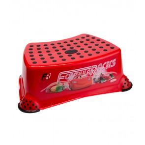 Dětský taburet v červené barvě s motivem Cars - 40x28x14 cm