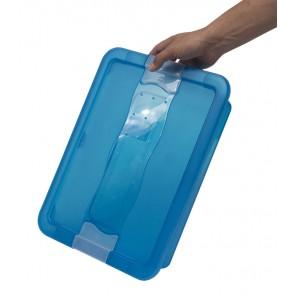 Plastový box Crystal 7 l, svěží modrý, 39,5x29,5x9,5 cm