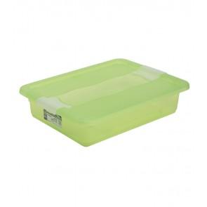 Plastový box Crystal 7 l, svěží zelený, 39,5x29,5x9,5 cm