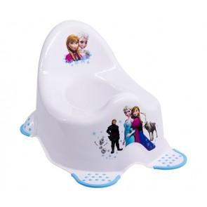 Dětský nočník v bílém provedení s motivem Frozen - 38x27x24 cm