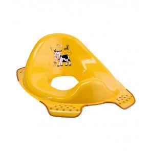 Sedátko na WC v světle oranžové barvě s motivem Funny Farm - 30x40x15 cm - POSLEDNÍCH 5 KS
