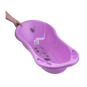 Dětská vanička v růžové barvě s motivem Hippo - 100x51x31 cm