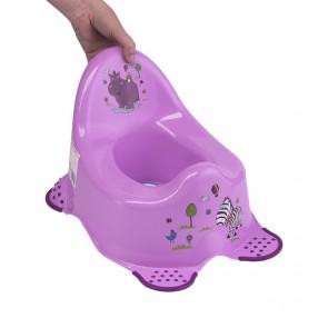 Dětský nočník v růžovém provedení s motivem Hippo - 38x27x24 cm