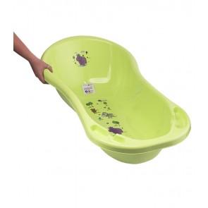 Dětská vanička v zelené barvě s motivem Hippo - 100x51x31 cm