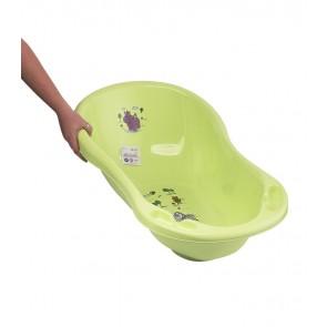 Dětská vanička v zelené barvě s motivem Hippo - 84x49x30 cm