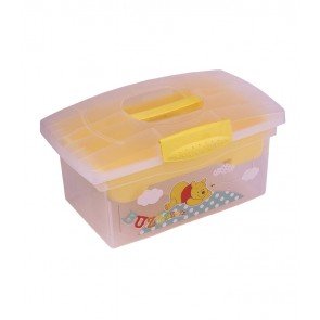 Cestovní box v žluto medové barvě s motivem Medvídka Pú - 40x24x21 cm - POSLEDNÍCH 5 KS