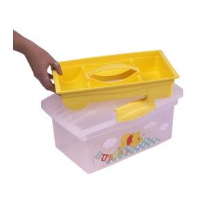 Cestovní box v žluto medové barvě s motivem Medvídka Pú - 40x24x21 cm - POSLEDNÍCH 6 KS