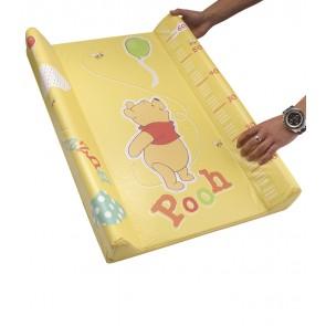 Dětská přebalovací podložka Medvídek Pú v žluto medové barvě s metrem  - 70x50x10 cm