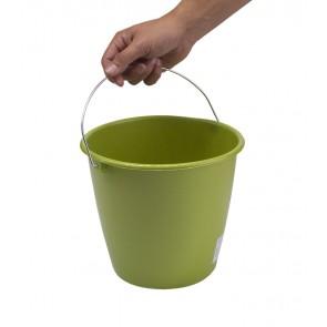 Kbelík s kovovou rukojetí, zelený, 5l - POSLEDNÍCH 6 KS