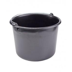 Kbelík pro stavební práce, černý, 12l - POSLEDNÍCH 6 KS