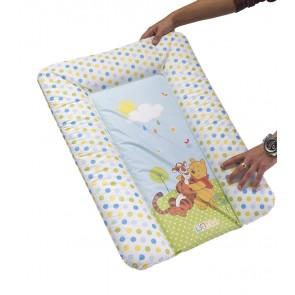 Dětská přebalovací podložka v bílé barvě s motivem Medvídka Pú - 70x50x5 cm