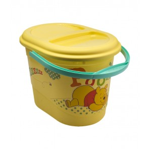Kyblík na pleny v žluto medové barvě s motivem Medvídka Pú - 37x26,5x26 cm - POSLEDNÍ 2 KS