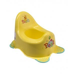 Hudební dětský nočník v žluto medovém provedení s motivem Medvídka Pú - 38x27x24 cm - POELEDNÍCH 7 KS
