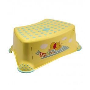 Dětský taburet v žluto medové barvě s motivem Medvídka Pú - 40x28x14 cm - POSLEDNÍCH 9 KS