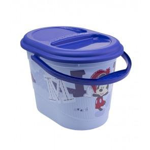 Kyblík na pleny v modré barvě s motivem Mickey - 37x26,5x26 cm - POSLEDNÍ 4 KS