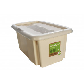Plastový box Colours, 7 l, krémový s víkem