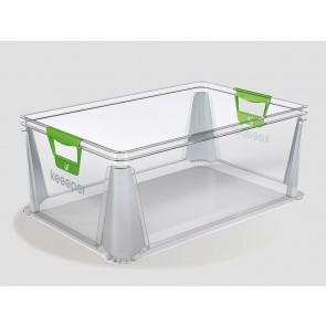 Plastový box Eurobox 45 l, průhledný