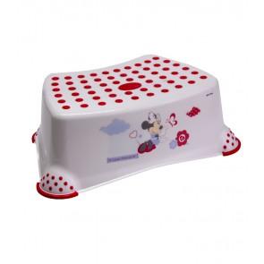 Dětský taburet v bílé barvě s motivem Minnie - 40x28x14 cm - POSLEDNÍCH 12 KS