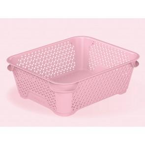 Plastový košík Mirko, A6, růžový, 20x16x7 cm - POSLEDNÍCH 18 KS