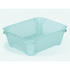 Plastový košík Mirko, A6, modrý, 20x16x7 cm