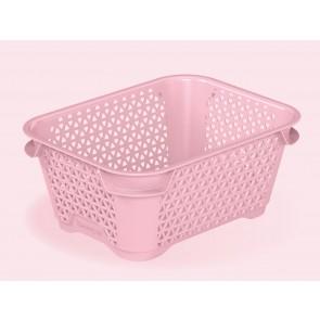 Plastový košík Mirko, A7, růžový, 16x12x7 cm - POSLEDNÍCH 26 KS