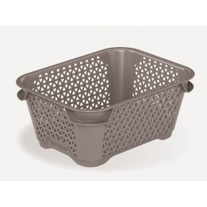 Plastový košík Mirko, A7, šedý, 16x12x7 cm