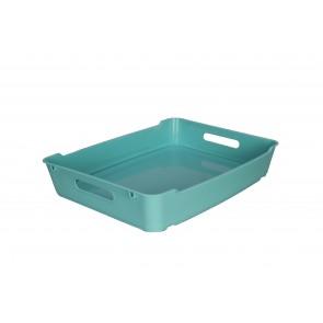 Plastový box LOFT A4, světle modrý, 37x28x6,5 cm