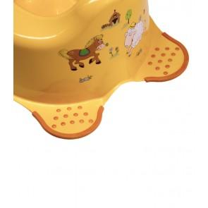 Dětský nočník ve světle oranžovém provedení s motivem Funny Farm - 38x27x24 cm - POSLEDNÍCH 5 KS
