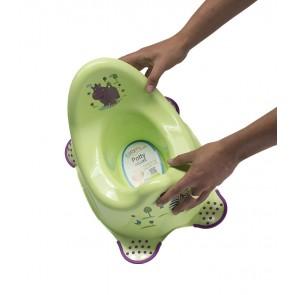 Dětský nočník v zeleném provedení s motivem Hippo - 38x27x24 cm