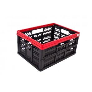 Plastový skládací box, malý, červený, 47x34x23 cm