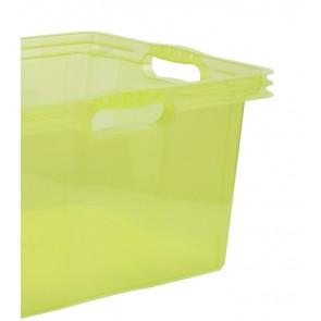 Plastový box Multi XL, svěží zelený, bez víka, 43x35x23 cm