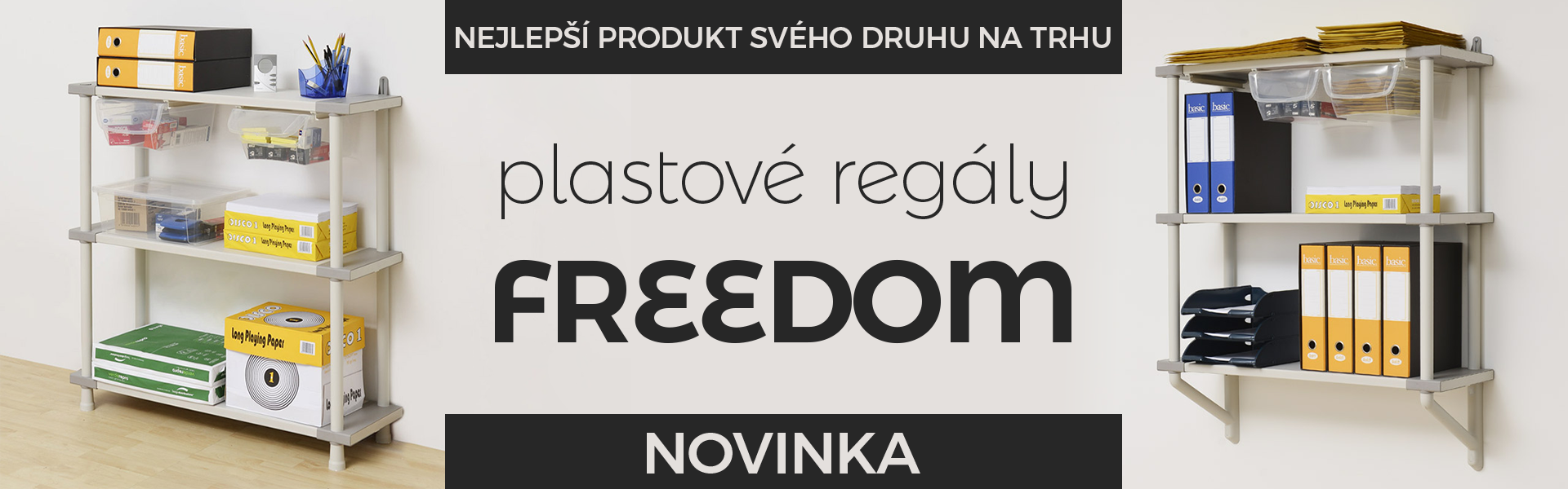 Plastové regály Freedom